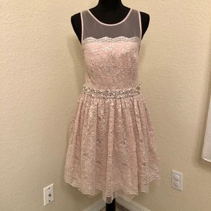 Beautiful Lace And Embellished Dress Size 9